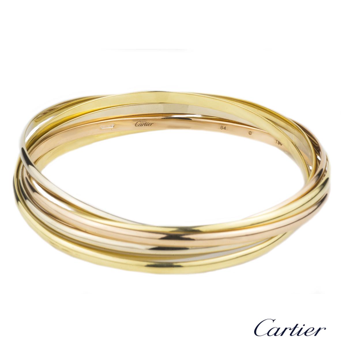 Cartier Infinity Bracelet: Cartier 18k Three Colour Gold Trinity Bracelet